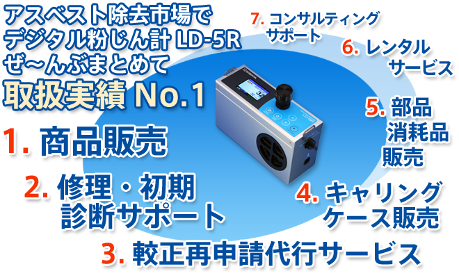 デジタル粉じん計LD-5Rの取扱実績No.1